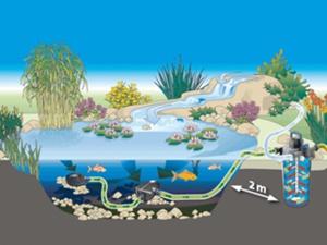 Filtrácia záhradného jazierka